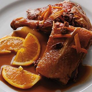 duck a l'orange - photo by Taix restaurant