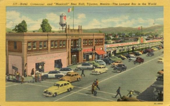 Hotel Comercial, Avenida Revolución & 2nd, Tijuana, 1940s
