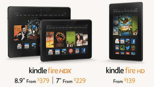 Kindle fire tablets