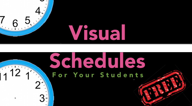 Visual Schedule for your kids!