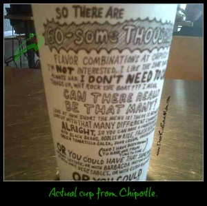 Actual cup from Chipotle