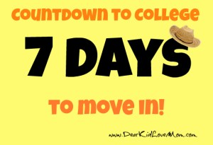 countdown to college move in