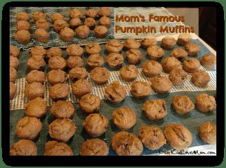Mom's Famous Pumpkin Muffins DearKidLoveMom.com