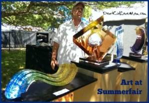 Fantastic art at Summerfair Cincinnati 2014. DearKidLoveMom.com