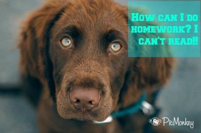 How can I do homework? I can't read! DearKidLoveMom.com