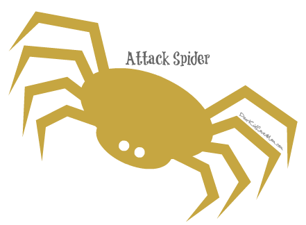 Attack spider. DearKidLoveMom.com