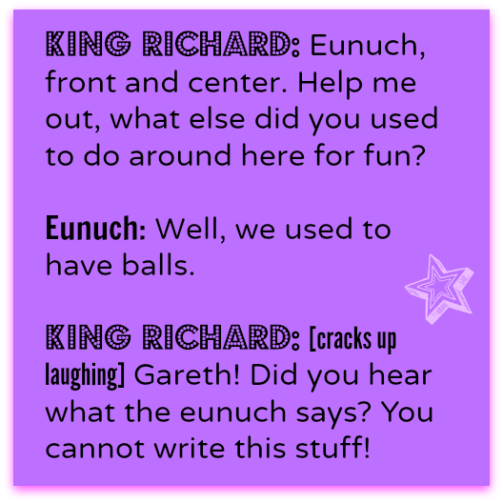 King Richard quote from Galavant! DearKidLoveMom.com