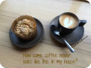 How come coffee never looks like this in my house? DearKidLoveMom.com