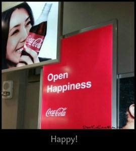 Open Happiness. Coca-Cola Store in Vegas. DearKidLoveMom.com