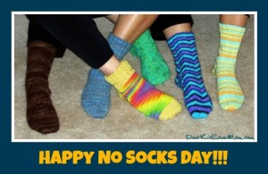 Happy No Socks Day! DearKidLoveMom.com