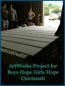 Last week the ArtWorks Apprentices began gridding the Boys Hope Girls Hope Mural. DearKidLoveMom.com