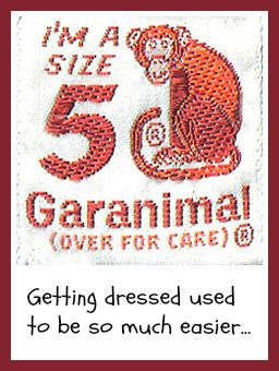 Getting dressed used to be so much easier. Garanimals. DearKidLoveMom.com