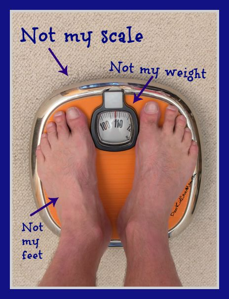 My scale and I are not on speaking terms. DearKidLoveMom.com