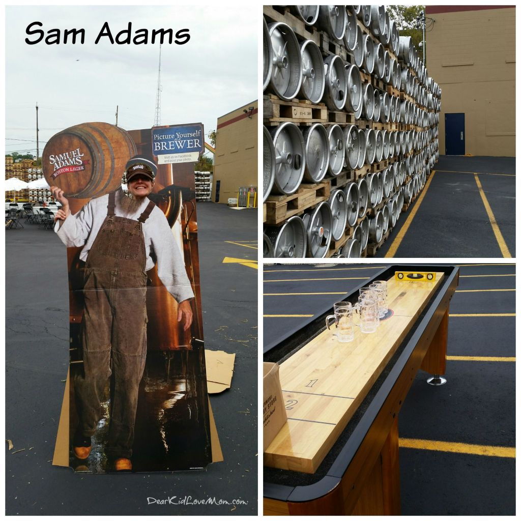Getting set up for Samuel Adams' employee event. Best Friend Errand Service and DearKidLoveMom.com