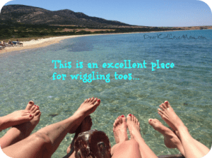 This is a great place to wiggle your toes. What's your favorite place for toe wiggling? DearKidLoveMom.com