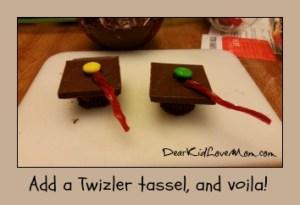 Chocolate Mortar Boards. Step 4. Happy Graduation! DearKidLoveMom.com