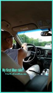 I Uber-ed for the first time! DearKidLoveMom.com