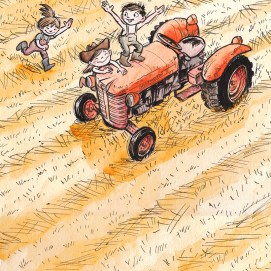 Mike_Deas_Illustration_Kids on Tractor