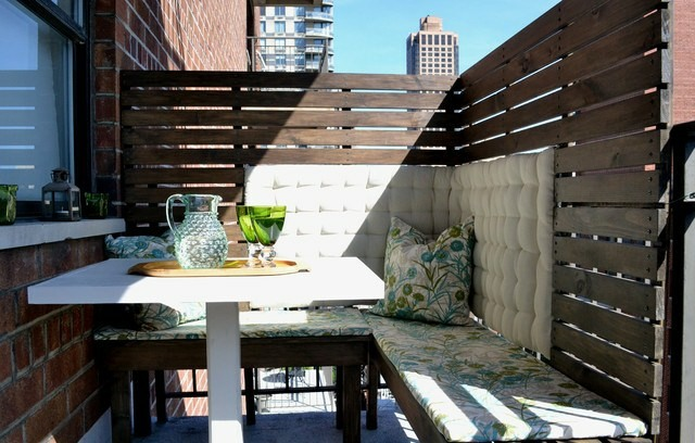 Sichtschutz Balkon Holz Selber Bauen: Balkon Und Dachterrasse ... Bambus Sichtschutz Balkon Bauen
