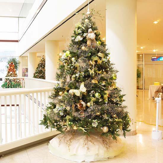 décoration du sapin de Noël papillons-libellules-rubans