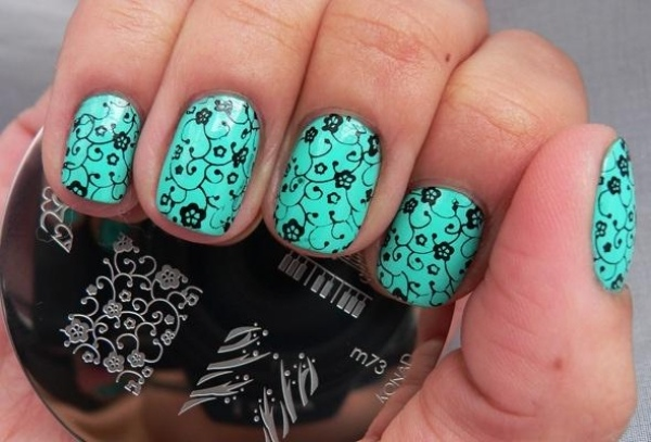 ongles-nail art plaque stamping motifs tendance 2015