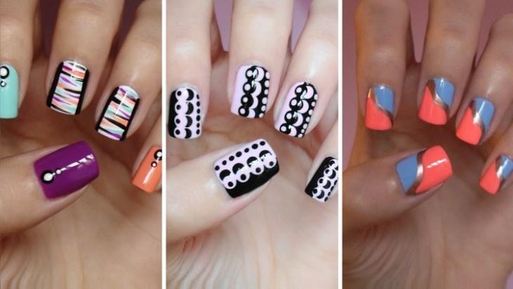 ongles nail art tendance 2015-2016- idées de couleurs