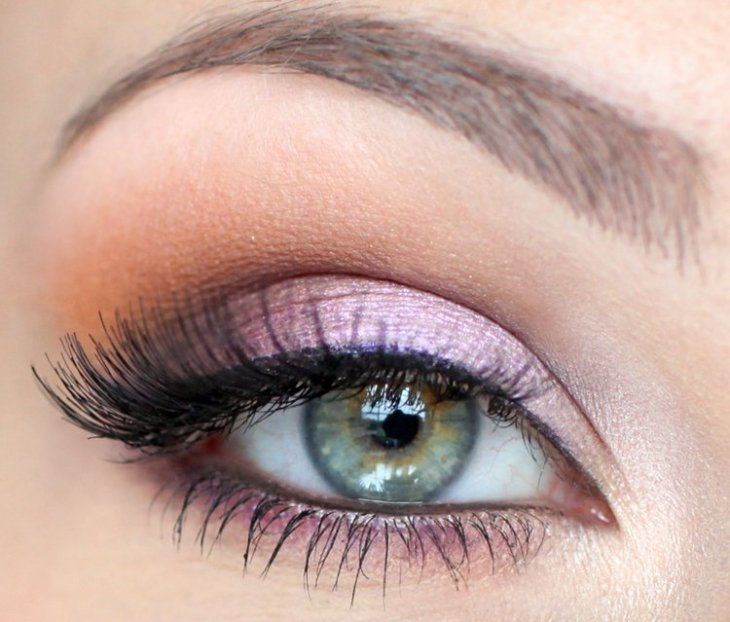 idees-maquillage-ete-ombre-paupières-orange-lilas-perle-mascara idées maquillage