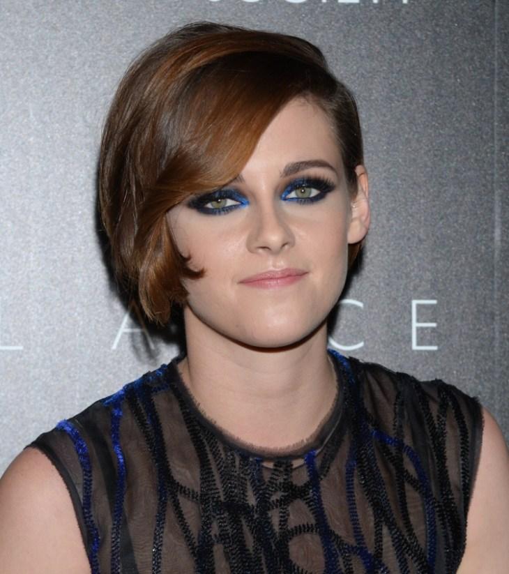 comment-bien-maquiller automne Kristen Stewart maquillage soirée bleu noir