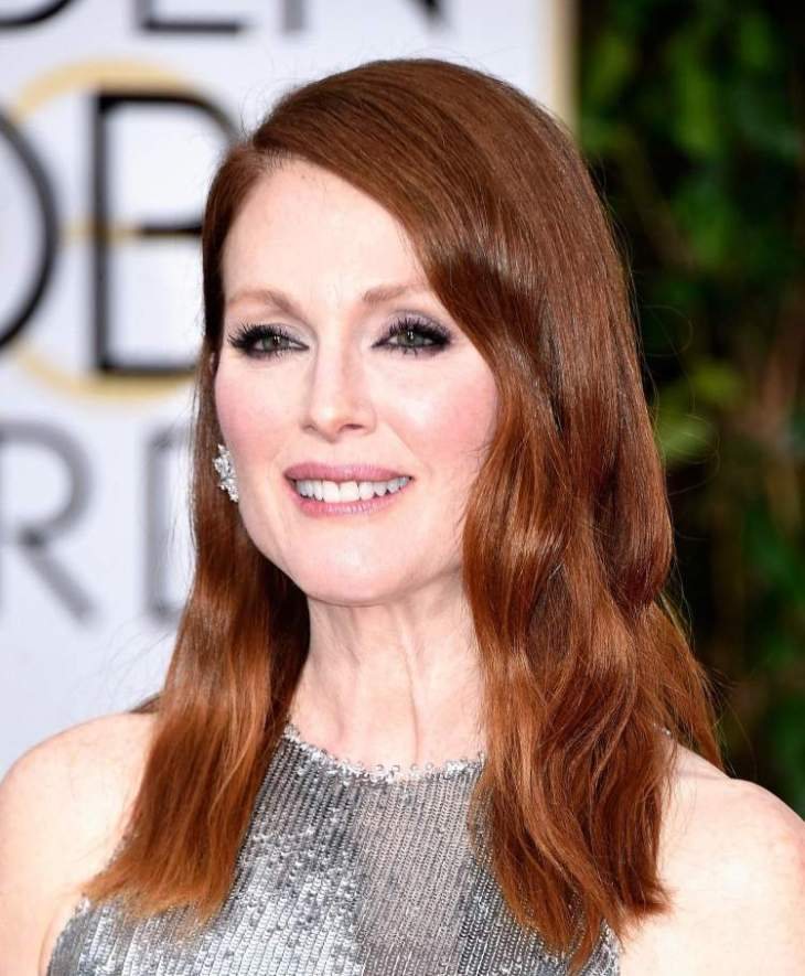 comment-bien-maquiller automne smokey eyes robe paillettée Julianne Moore