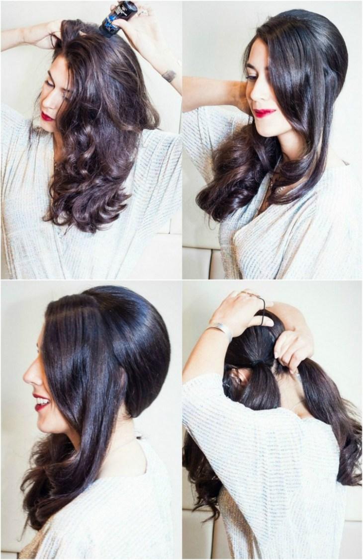 coiffure pour nouvel an chevelure-separer-sections-queues-cheval-arriere-tete