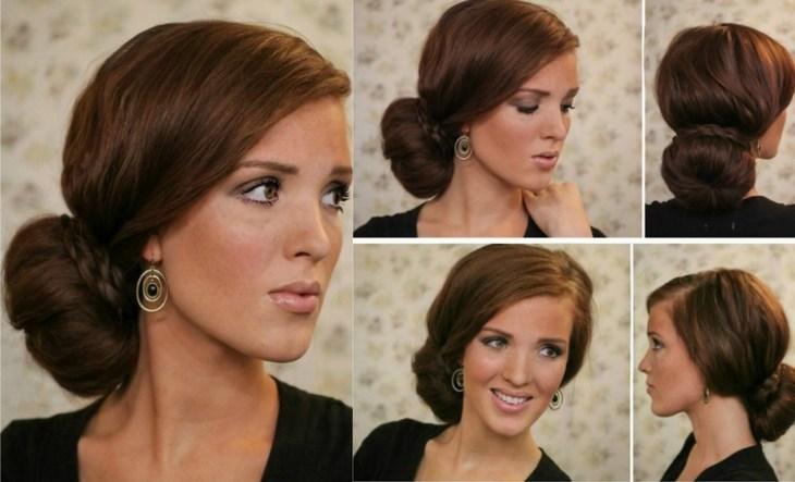 coiffure pour nouvel an chignon-lateral-bas-elegant-tutoriel