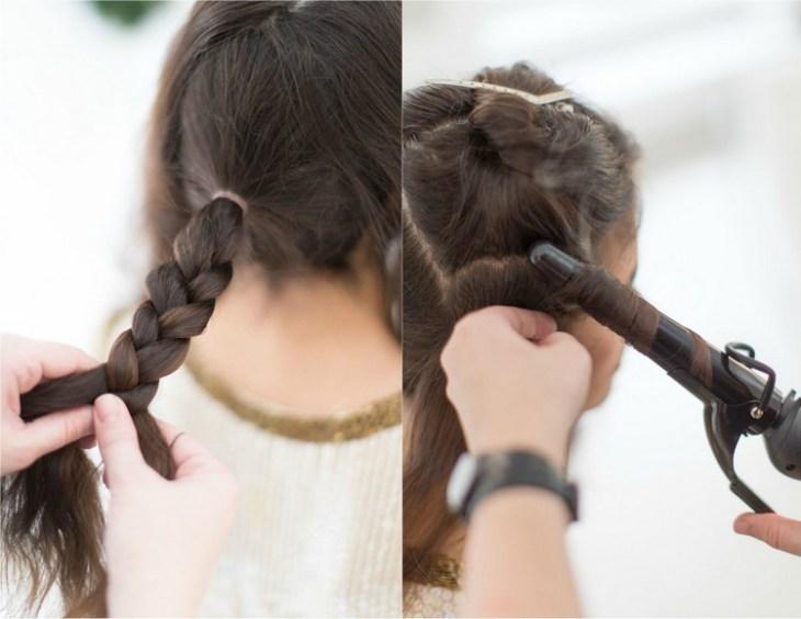 coiffure pour nouvel an fer-friser-mehces-bouclees-tresse