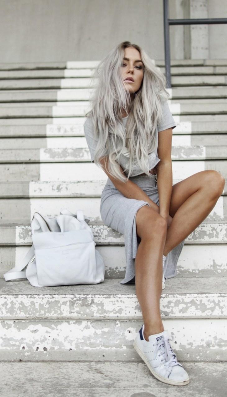 cheveux gris blond platine cendré cheveux longs mode 2016