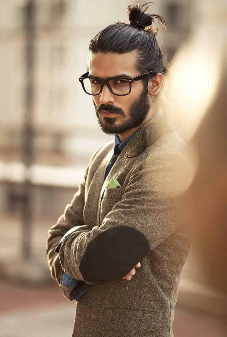 coupe de cheveux homme 2016-man-bun-barbe