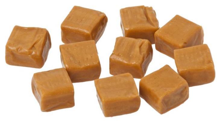 cheveux couleur caramel -bonbons-caramel-nuances