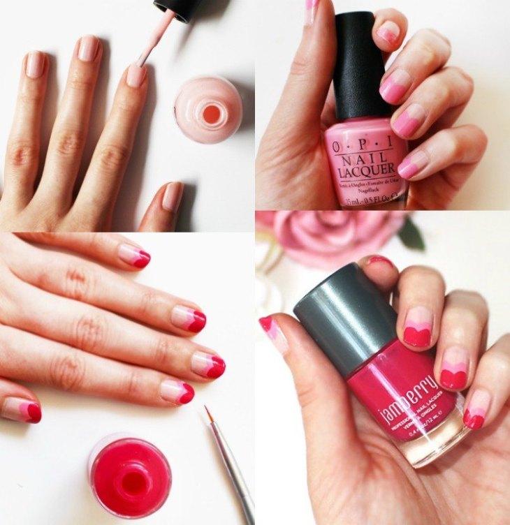 manucure-rose-pastel-rose-bonbon-framboise-faite-maison