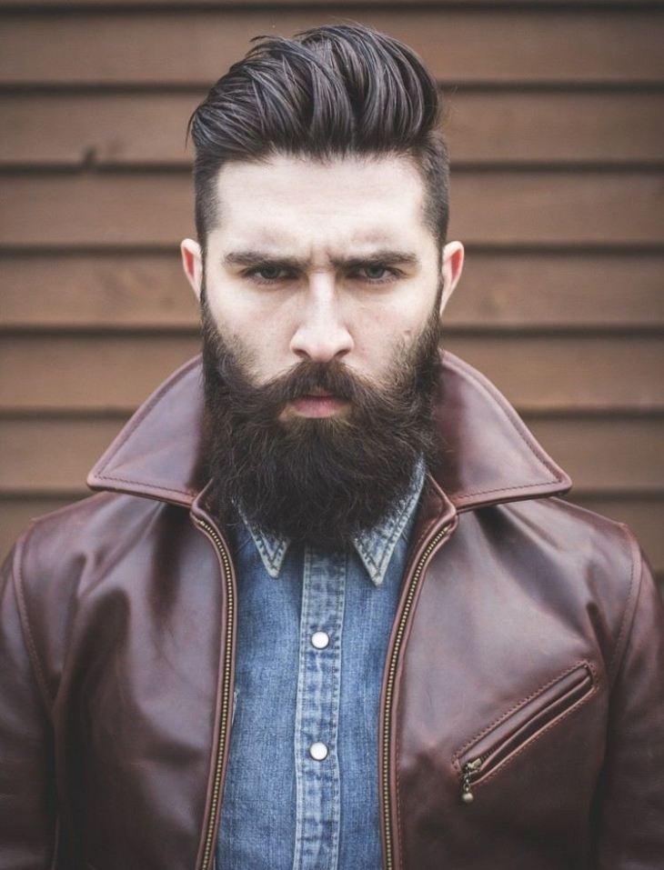 coiffure homme tendance -undercut-barbe-longue