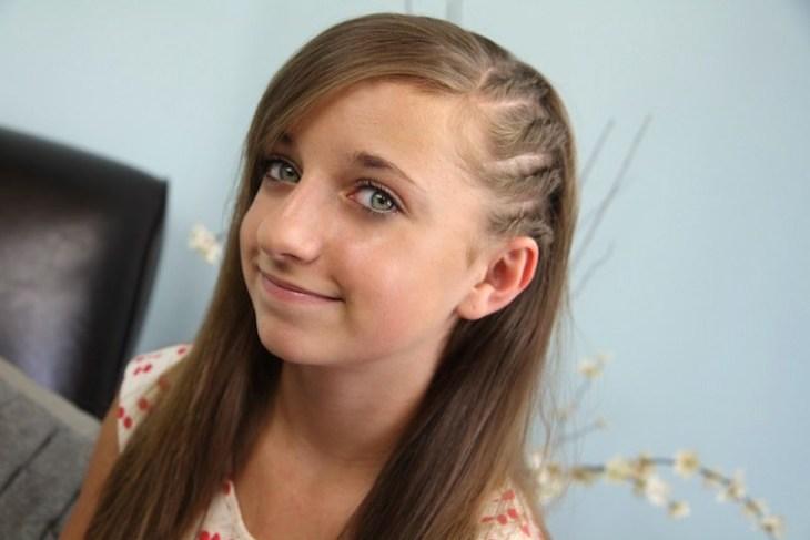 coiffure pour petite fille -tresses-plaquées-cheveux-longs