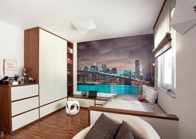 Teen bedroom wall decoration ideas – cool photo wallpapers ...