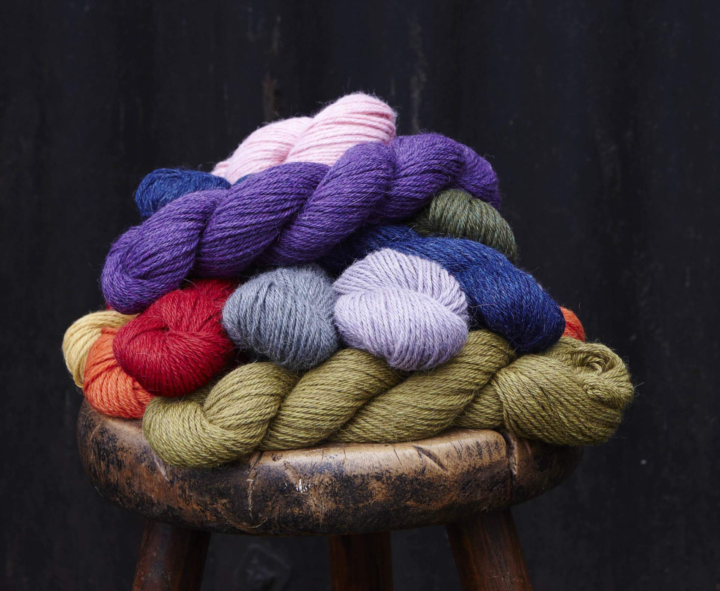 Aymara, a beautiful baby alpaca in a sumptuous palette of classic neutrals and vibrant brights.