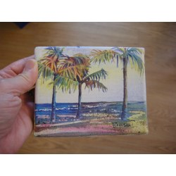 Luxurious Palms Debbie Waldorf Johnson Watercolor Pencils On Canvas Watercolor On Canvas Board Miniature Watercolor On Canvas Miniature Watercolor On Canvas