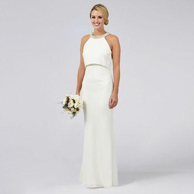 prod 1 ivory wedding dress Ben De Lisi Occasion Ivory embellished Serena wedding dress