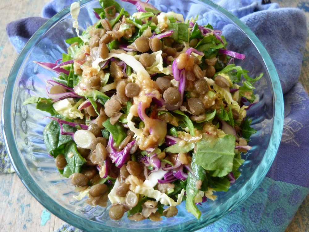 lentil salad miso dressing