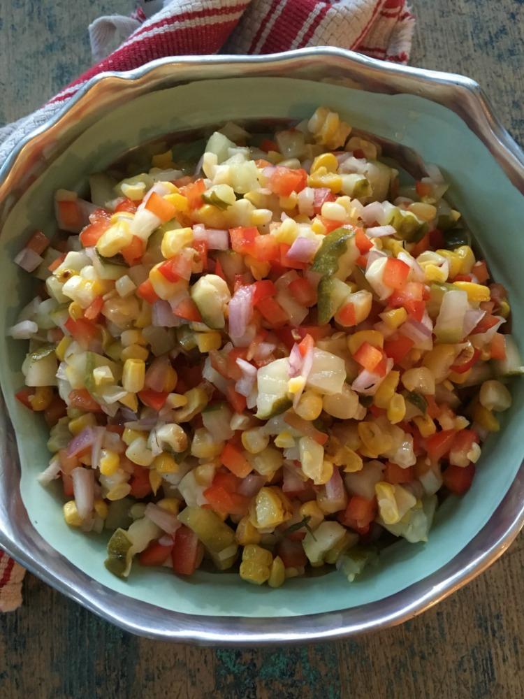 Israeli Corn and Pickle Salad