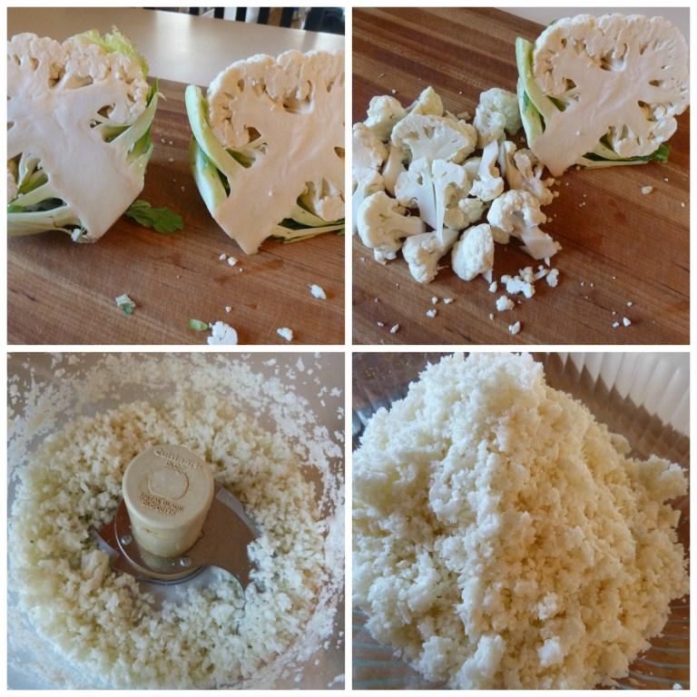 Ricing Cauliflower for Onion Rolls