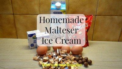 Malteser Ice Cream recipe