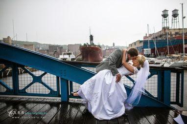 Canal Park Bride & Groom