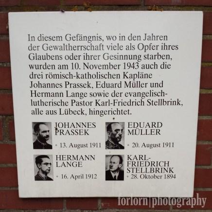 Commemorative Plaque to the Lübeck Martyrs. Camera: Samsung Galaxy S4