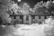 An infrared shot of one of the buildings. (Camera: Canon Rebel XT converted to Infrared)
