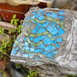 Close-up of a bit of the tile from the ruined sauna. (Camera: Canon Rebel T3i)